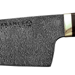 "8"" Chef (Meiji Style - RH) Milky Wave Mosaic Damascus, Snakewood Handle"