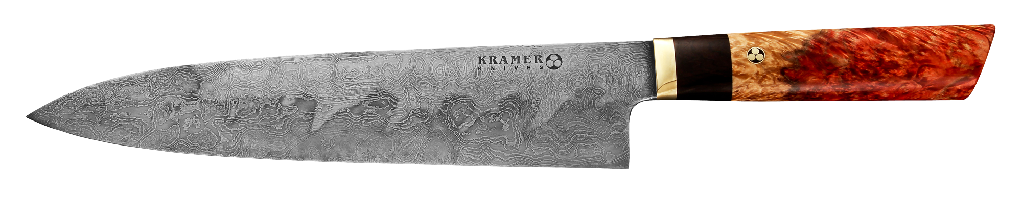 "10"" Meteorite Steel Gyuto with Box Elder Handle 