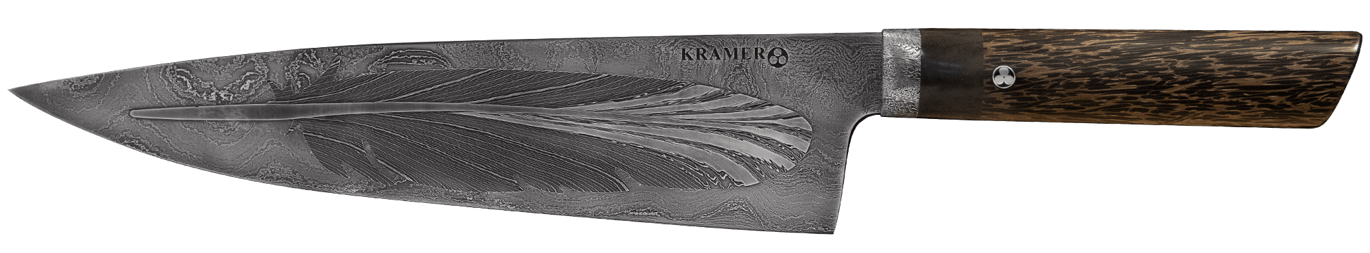 "Feather 10.5"" Damascus Meiji Chef's Knife 